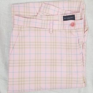 Pink Burberry Golf Pants